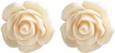 Wet Seal Plastic Flower Button Earring