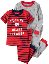Carter's 4-Piece Snug Fit Cotton Future Heart Breaker PJs