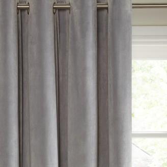 John Lewis & Partners Lustre Velvet Pair Lined Eyelet Curtains