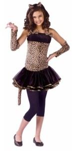BuySeasons Wild Cat Little and Big Girls Costume