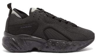 Acne Studios Rockaway Safety Mesh And Leather Trainers - Mens - Black
