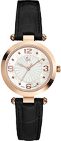 Gc Sport Chic B1-Class stainless steel and leather watch