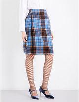 Anglomania Elisa tartan high-rise wool-blend skirt