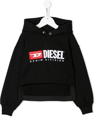 Diesel cropped logo hoodie
