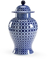 The Well Appointed House Blue and White Porcelain Jordan Covered Vase