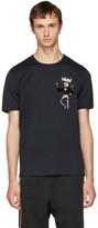 Dolce & Gabbana Black King Skeleton T-Shirt