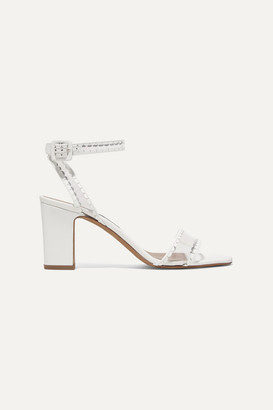 Tabitha Simmons Leticia Leather And Pvc Sandals - White