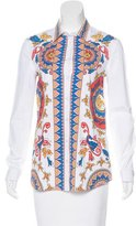 Philosophy di Alberta Ferretti Printed Button-Up Top