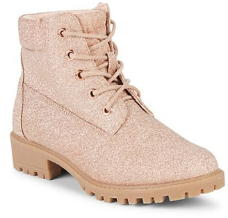 Mia Girl's Textured Lace-Up Boots