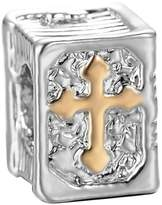 Pandora 3D Cross Holy Bible book Religious Charm Jewelry Beads Fit Compatible