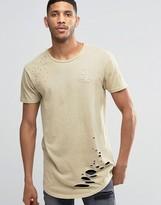 SikSilk Distressed T-Shirt