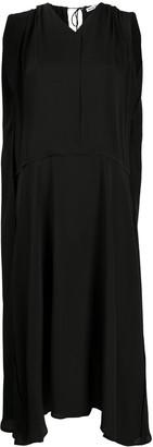 Acne Studios asymmetric sleeveless V-neck dress