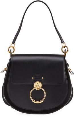 Chloé Tess Large Leather/Suede Camera Crossbody Bag