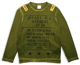 Diesel Boys' Military Motif Tee - Sizes 4-16