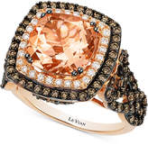 LeVian Le Vian® Peach Morganite (2-9/10 ct. t.w.) and Diamond (1-1/3 ct. t.w.) Ring in 14k Rose Gold, Only at Macy's