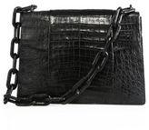 Nancy Gonzalez Large Crocodile Chain Flap Shoulder Bag