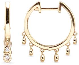 AUGUST & JUNE Mini Dancing Hoop Earrings