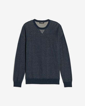 Express Plaited Crew Neck Sweater