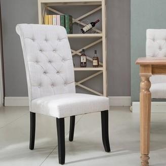 Canora Grey McBain Tufted Velvet Upholstered Parsons Chair Upholstery Color: Beige