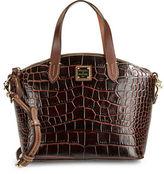 Dooney & Bourke Small Crocodile-Embossed Leather Satchel