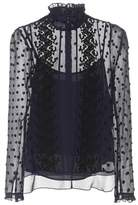 See by Chloe Embroidered tulle blouse