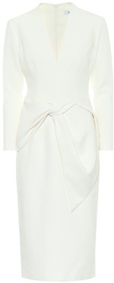 Safiyaa Leticia stretch-crepe midi dress