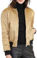 Lauren Ralph Lauren Fucetta Metallic Bomber Jacket