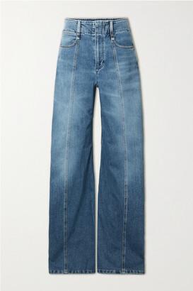 Chloe - High-rise Wide-leg Jeans - Blue