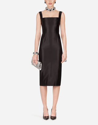 Dolce & Gabbana Duchess Satin Midi Dress