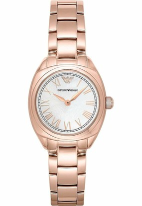 Emporio Armani Women's AR11038 Analog Display Japanese Quartz Rose Gold Watch