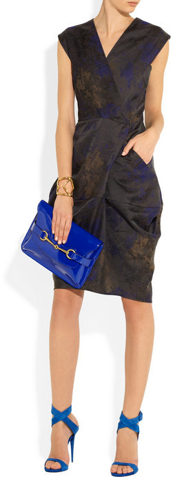 Zero Maria Cornejo Cata wrap-effect jacquard dress