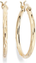 Giani Bernini Diamond-Cut Hoop Earrings in 24k Gold over Sterling Silver, Only at Macy's