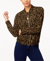 MICHAEL Michael Kors Leopard-Print Bomber Jacket, a Macy's Exclusive Style