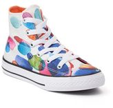Converse Girls' Chuck Taylor All Star Floral Petals High Top Sneakers