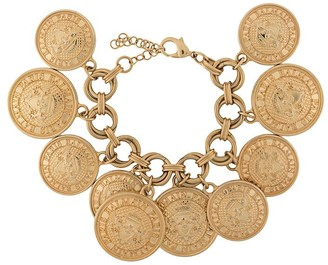Balmain Pre Owned Coin Embellished Bracelet