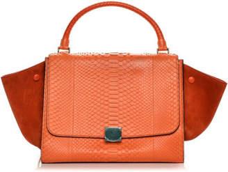 Celine Python Suede Medium Handbag - Vintage