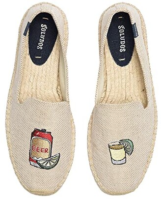 Soludos Beer Shot Smoking Slipper (Cream) Men's Shoes