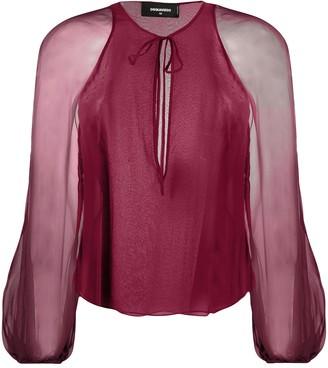 DSQUARED2 Sheer Sleeves Blouse