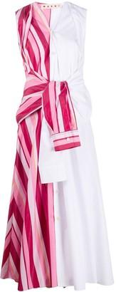 Marni Striped Panel Shirt Dress