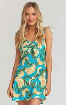 MUMU Brigette Mini Dress ~ Annie Bananie Crinkle Stretch