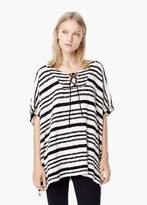 Mango Outlet Striped Cotton Cape