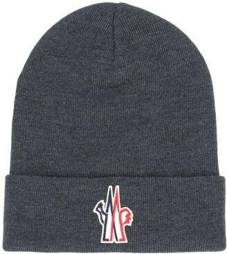 MONCLER GRENOBLE Logo Patch Knitted Beanie