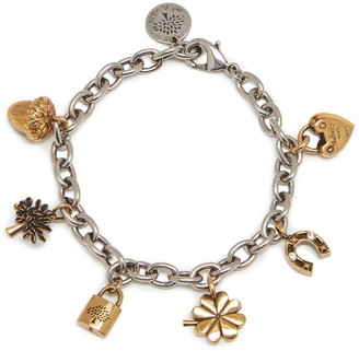 Mulberry Lucky Charm Bracelet Gold and Silver Brass