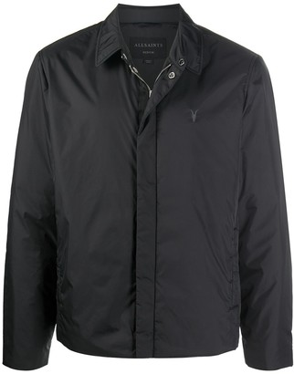 AllSaints Logo-Embroidered Padded Shirt Jacket