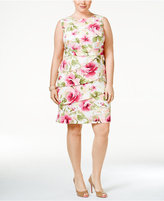 Connected Plus Size Tiered Floral-Print Sheath Dress