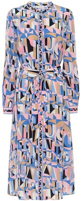 Emilio Pucci Printed silk-crApe midi dress