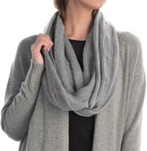 Portolano Cashmere Cable-Knit Infinity Scarf (For Women)