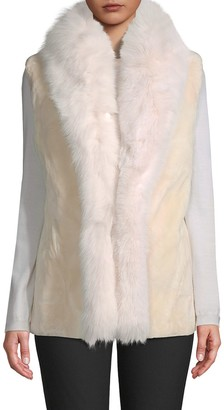 Wolfie Fur Made For Generation Dyed Beaver & Fox Fur-Trim Vest