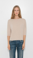 Organic by John Patrick Crop Elbow Sleeve Sweater
