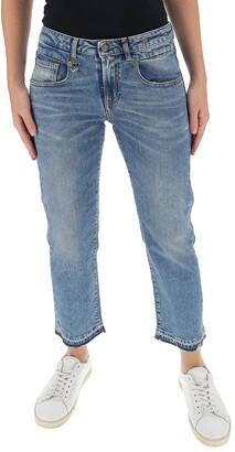 R 13 Boy Mid-Rise Straight Leg Jeans